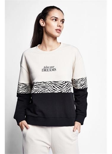 Lescon Fildişi Kadın Sweatshirt 21N-2143 Beyaz